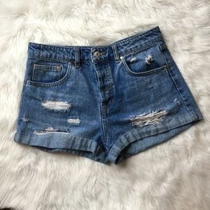 forever 21 distressed shorts size 27